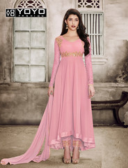Sparky Pink Anarkali Salwar Suit Online On #YOYOFashion. (yoyo_fashion) Tags: dresses partysuit womenstyle trends offers suit shopping dress ethnic pinksuit