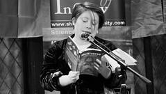 Event Horizon March 2019 09 (byronv2) Tags: woman author writer books reading literature literary sciencefiction stage portrait shorelineofinfinity eventhorizon edinburgh edimbourg scotland georgeivbridge frankensteins blackandwhite blackwhite bw monochrome