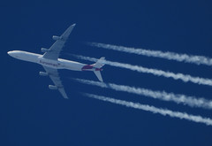 OO-SCX (zhirenchen) Tags: nikon coolpix p1000 megazoom telephoto telescope 3000mm cruise high altitude contrail stream cloud trail vapor tail track steam chemtrail rnav inflight jet plane airplane spotting aircraft airline airliner flight flightradar24 fr24 airbus a340 a343 a340300 340300 340 343