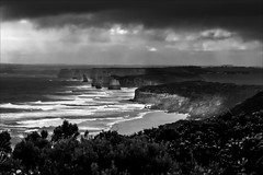 P2252054-Edit Gables to 12 Apostles-2 (Dave Curtis) Tags: victoria greatoceanwalk blackandwhite 12 apostles ocean 2014 australia em5 omd olympus places september