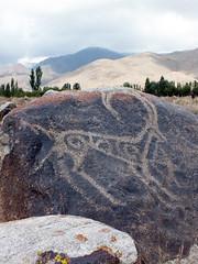 Petroglyphs (LeelooDallas) Tags: asia kyrgyzstan cholponata petroglyph museum stone carving dana iwachow dragoman overland silk road trip august 2018 issyk kul lake