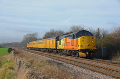 37521 & 37099 - Maxey 09/01/19 (James Welham) Tags: 37521 37099 1z97 crewe colchester maxey ecml stamford peterborough colas