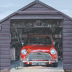 Amongst the Clutter (Ian.W.Matthew) Tags: mini garage clutter painting acrylic