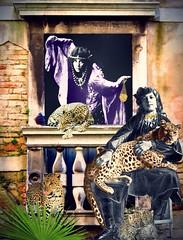 '...the Wild Nurturing the Wild' (tishabiba) Tags: surreal surreale surrealism illusion digitalart digitalmania perception conceptual tish leopards artwork artphoto montage wildchild nurture