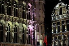 """Hôtel de Ville et """"Le renard"""" (Maison de la corporation des merciers) Grand Place, Bruxelles, Belgium (claude lina) Tags: claudelina belgium belgique belgië bruxelles brussels architecture grandplacedebruxelles"""