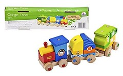 Exciting 30% OFF Amazon Discount On Wooden Train Set - Toddler's Stacking Cargo Train Toddler Toys (getitim) Tags: amazonoffers amazoncoupons toddler toys child playing