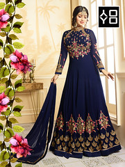 Designer Faux Georgette Blue heavy Embroidered and Handwork Anarkali Suit #YOYOFashion Online Shopping. (yoyo_fashion) Tags: dress style suits fashion womenweardress anarkalisalwarsuit dresses fashioninsta lool lookbook stylist