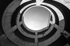 roly poly (Paul Wrights Reserved) Tags: vortex circle circles looking up shadow light concrete old residue monochrome blackandwhite