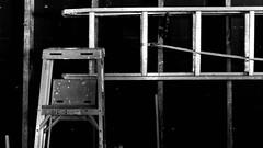 Ladders (joeldinda) Tags: olympus omdem1mkii em1 omd em1ii 2019 home mulliken potter garage interior blackandwhite bw monochrome tool ladder 4437 february 33365