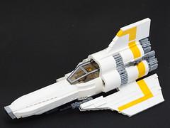 BSG Viper Mk I LEGO model 1:30 scale (LuisPG2015) Tags: colonialvipermki colonialviper starbuck battlestargalactica battlestar galactica colonial viper lego