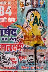 Torn Poster, Varanasi India (AdamCohn) Tags: adam cohn ganga ganges india uttarpradesh varanasi art face paper poster streetphotographer streetphotography torn wwwadamcohncom adamcohn