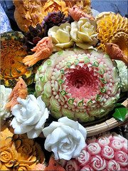 fruitastic flowers. (Bernergieu) Tags: bern switzerland fruits früchte blumen flowers farben colours handcraft handwerk art kunst thailand handyshot