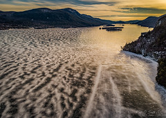 7/52 - Fading Light (KAOS Imagery) Tags: lakegeorge winter ice sunset aerial phantom4pro adirondacks ny