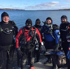 New Years Day Dive 2019 (billybob298) Tags: drysuit scuba divers