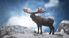King of the Mountain (thereeljames) Tags: moose wildlife nature snow winter toys schleich photography toyphotography toyphotographers