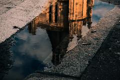 Pauvre miroir (jérémydavoine) Tags: cathedral cathédrale cathédralenotredame église eglise églisenotredame church edifice édificereligieux clocher belltower tour architecture architecturereligieuse eau water reflet reflection reflect sol ground sky light unesco lehavre seinemaritime normandie france