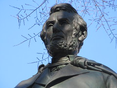 President Abraham Lincoln Bronze statue Union Square Park 1545 (Brechtbug) Tags: former president abraham lincoln bronze statue union square park artist sculptures statues manhattan new york city 2019 nyc art arts world abe characters next tourists february 02162019 presidents day life size portrait portraits urban winter season stair stairs step facade museum front entrance top hat tophat stove pipe hats formal dress politician politics political gent