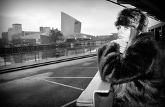 Janie Runaway (plot19) Tags: nikon north northern northwest now love light manchester model liv olivia family fashion fasion lowry salford quays england english britain british blackwhite blackandwhite teenager hat plot19 photography portrait people