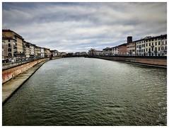 View of Arno and Pisa from Ponte di Mezzo (aiva.) Tags: italy pisa italia arno river bridge toscana tuscany