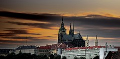 Prague at Dusk (Alfredo Rafael) Tags: sunset clouds prague castles spires eastern europe cathederals