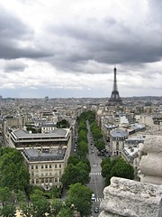 View on Eiffel Tower from Arc de Triomphe (alex_vxxd) Tags: paris eiffei tower sky architecture