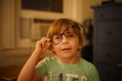 (patrickjoust) Tags: sony a7 digital manual lens domestic home baltimore maryland usa us united states north america estados unidos llewelyn kid boy child glasses nikkor 50mm f12 ai