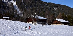 Chacun sa route - On the path... (CHAM BT) Tags: chalet alpage hiver raquette randonnee trace neige silence montagne foret bois toit winter snowshoe snow mountain wood forest roof walk alpes