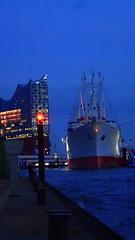 Hamburg Harbour Impressions (david_m.hn) Tags: hamburg hafen harbour outdoor wasser water nacht night schiff ship elbe deutschland germany elbphilharmonie