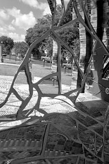 Smither Park and the Orange Show (2) (momentspause) Tags: ricohgr ricoh houston texas blackandwhite bw blackandwhitephotography abstract publicart public publicpark publicspace art mosaic mirror