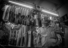 Da Nang Tet series 3 2019 (32 of 41) (dantegreeff) Tags: bw business clothing proud shopowner smile