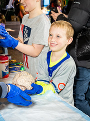 Learning the brain (Bryan Esler Photo) Tags: blue brain neuro kid child science michiganstateuniversity learning grandrapidspublicmuseum