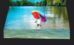 Cooling off in the Lake (ClaraDon) Tags: photoshop water manipulation fantasy