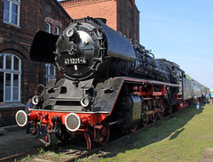 Baureihe 41 (Schwanzus_Longus) Tags: black br freight german germany goods historic horse iron loco locomotive museum passenger railroad railway steam track tracks train trains vintage baureihe eisenbahn fahrzeug zug dampfmaschine outdoor lokomotive dampflokomotive stasfurt engine class east ddr gdr deutsche reichsbahn br41 41