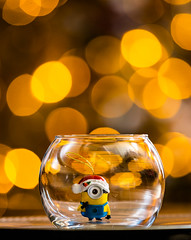 minion day 31 (auntneecey) Tags: minion bokeh fishbowl auntneecey 365the2018edition 3652018 day365365 31dec18