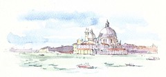 Santa Maria della Salute vanop de Riva degli Schiavoni, Venezia, Italia (Linda Vanysacker - Van den Mooter) Tags: rivadeglischiavoni venezia italia 2018 santamariadellasalute watercolor watercolour visiblytalented vanysacker vandenmooter tekening sketch schets potlood pencil lindavanysackervandenmooter lindavandenmooter drawing dessin croquis crayon art aquarelle aquarell aquarel akvarell acuarela acquarello