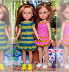 (Найя), Vidal-Rojas, doll, 1/4, 35cm (Evrika U) Tags: найя vidalrojas doll 14 35cm handmadefordoll knittingbyahook knitting photobyevrikagrecheskaja twins