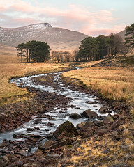 Dry Upper Neuadd Lake (Andrew Hocking Photography) Tags: dry neuadd upper reservoir lake bed river taf meandering trickling landscpae wales southwales breconbeacons cymru penyfan mountains valley gb uk countryside trees sunrise water