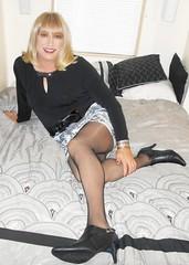 Sunday Afternoon In Bed (DianeD2011) Tags: crossdresser cd crossdress crossdressing stockings tg tranny transvestite tgirl tgurl pantyhose fishnet