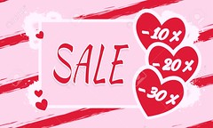 Discounts, price reduction. (anntu668) Tags: card banner decoration february gift red text day romantic holiday corrugated wavy background stripes texture golden glitter stain scratches lines rectangle abstract percent discount sale pink valentinesday love heart romance lovers confession valentine greeting vector celebration fallinginlove symbol design poster illustration drawing