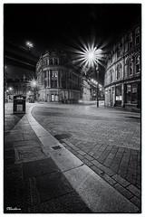 Dark side of the Toon. (stblackburn) Tags: newcastle northeast nighttime night mono street bw uk