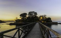 Castillo de Santa Cruz, Oleiros A Coruña, España (JMFVERAS) Tags: 2019 cruz castle castillo castelomar sea seashore orilla playa beach puente bridge isla island ocaso solpor sunset