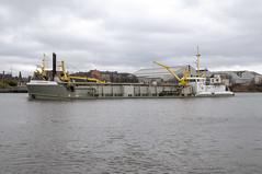 Sospau Dau (Scottish Photography Productions   David Pollock) Tags: sospau dau imo 7711062 mmsi 244990000 suction hopper dredger dredging sosban bv river clyde upper marine maritime boat ship vessel tshd