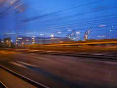 SPEED (keithleblanc323) Tags: train venicecauseway venice bluehour traintravel italy speed