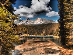 The Lake Karer in South Tyrol (Ostseetroll) Tags: geo:lat=4640878105 geo:lon=1157303145 geotagged ita italien karersee latemar südtirolaltoadige lagodicarezza dolomiten dolomiti dolomites alpen alps see lake olympus em10markii