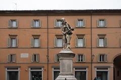 luigi galvani's monument in piazza luigi galvani (cyberjani) Tags: italy architecture street city people photo building sky tower road bologna