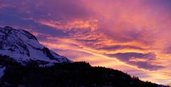 Cloud waves (An Arzhig) Tags: cloud clouds nuage nuages sunset de soleil rose pink orange coucher montagne montagnes mountain mountains neige snow pyrénées france panasonic wild nature lumix gx800 micro43