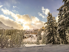 (luceinversa) Tags: arosa switzerland alpi alpen neve sci snow mountains mountain untersee luceinversa tramonto sunset