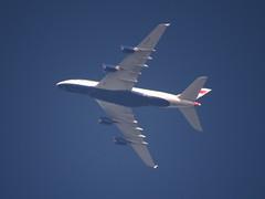 @British_Airways BA269 LHR-LAX G-XLEF climbing thru fl130 over Milton Keynes @AirbusintheUK A380-841 #avgeek #avaition #aviationgeek #planespotting#BA269 #GXLEF #LHR #LAX (Bucks photographer) Tags: planespotting lax aviationgeek avaition ba269 lhr avgeek gxlef