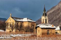 Eglise de Chignin (Savoie 01/2019) (gerardcarron) Tags: canon80d church cloud eglise neige savoie