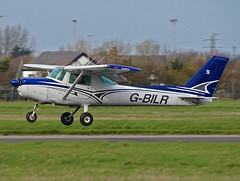 G-BILR Cessna 152 (SteveDHall) Tags: aircraft airport aviation airfield aerodrome aeroplane airplane 2019 bpl blk egnh blackpool blackpoolairport generalaviation ga lightaircraft gbilr cessna c152 cessna152